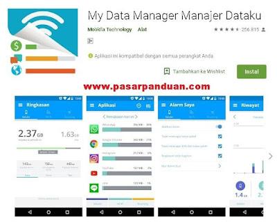 aplikasi untuk meliat konsumsi penggunaan paket data