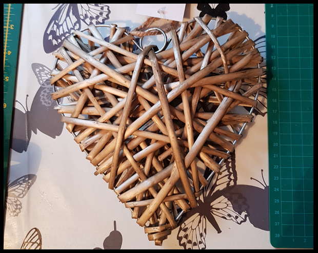 B&Q wicker hearts on offer for £1