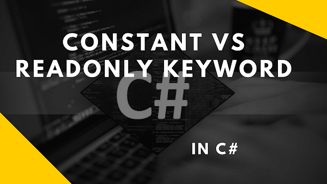 difference between variable and constant in c#