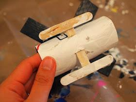 cardboard roll helicopter landing skids