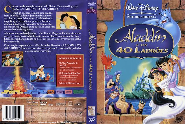 Capa DVD Aladdin e os 40 LADRÕES