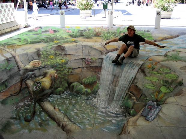 Julian Beever Street Art 3D Wallpaper