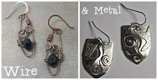 nice lady wire and metal jewelry