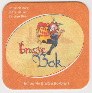 Le sous-bock de la bière belge Brugse Bok