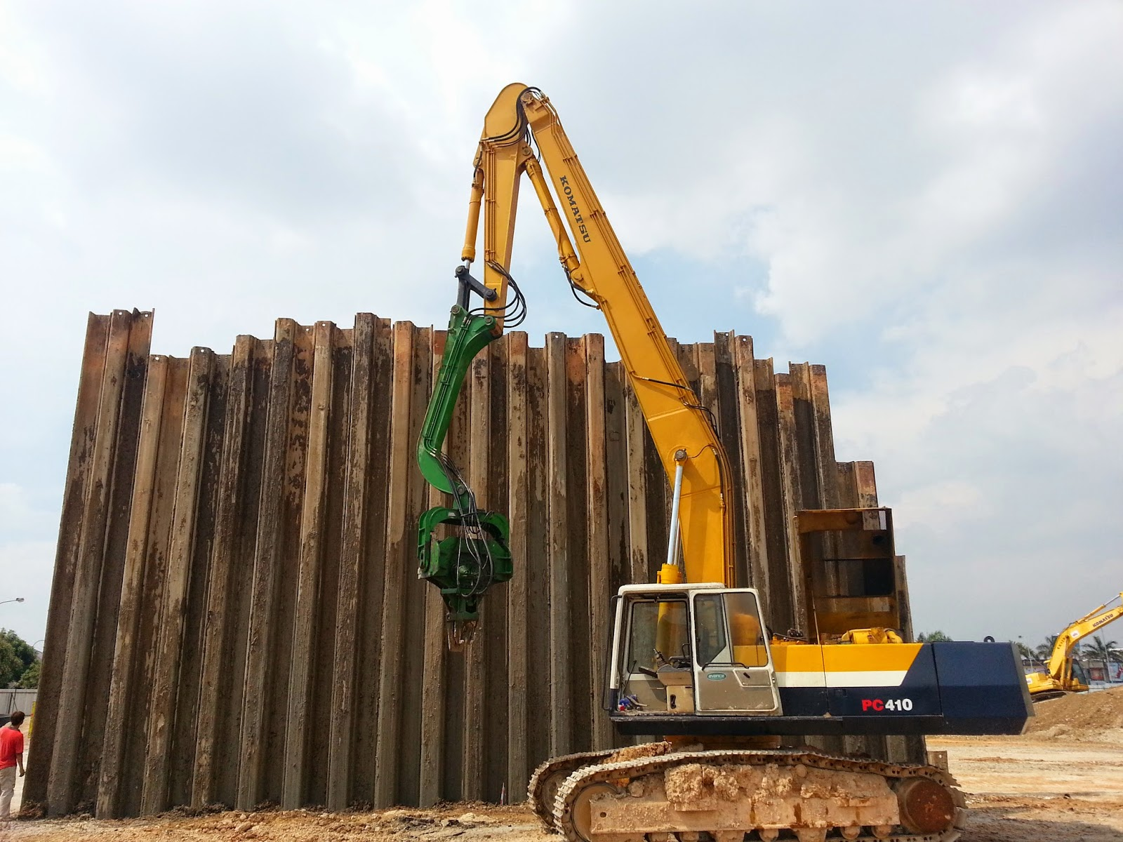 Silent Sheet Pile Driving Silent Piler For 40 Sheet Pile