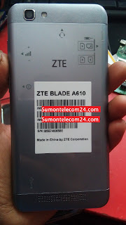 ZTE Blade A610 Flash File images