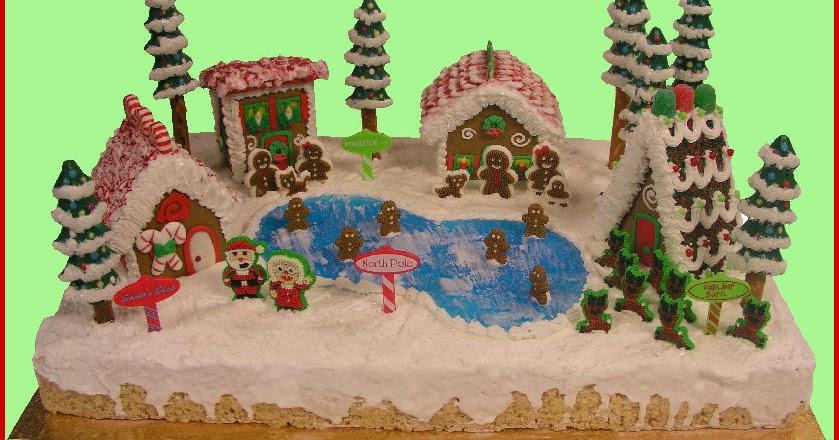 Candyland Crafts Blog North Pole Gingerbread Village