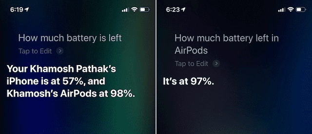 كيف تتحقق من شحن سماعات AirPods على الأيفون وساعة Apple Watch؟