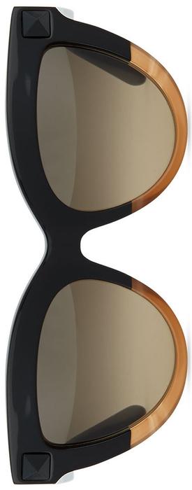 Valentino Tonal-Stud Sunglasses
