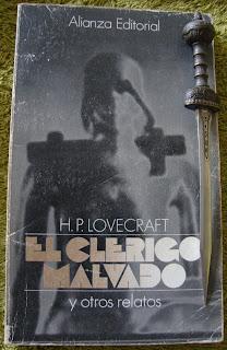 Portada del libro El clérigo malvado y otros relatos, de H. P. Lovecraft