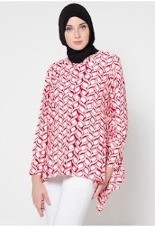 Baju Kantor Batik Muslim Remaja Elegan
