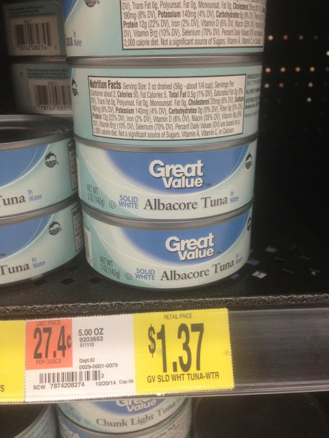 Albacore Tuna, Solid White, 5 oz, Great Value - Walmart