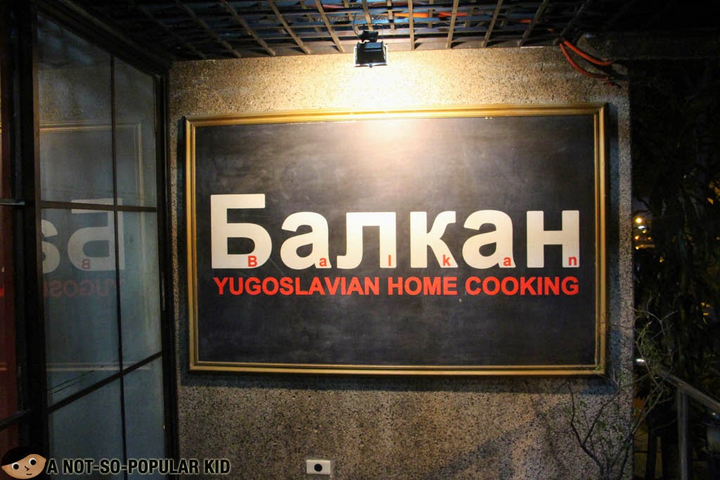 Balkan's signage - a home for Yugoslavian Cuisine