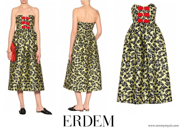 Princess Eugenie wore ERDEM Brocade dress