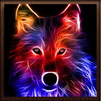 Loup Couleurs Neon - Avatar en HD