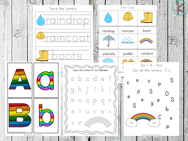 Rainbow Worksheets for Kids