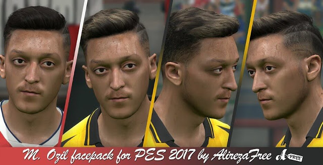 Mesut Özil Face Pack For PES 2017