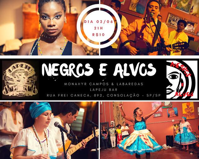 Negros e Alvos no Lapeju Bar