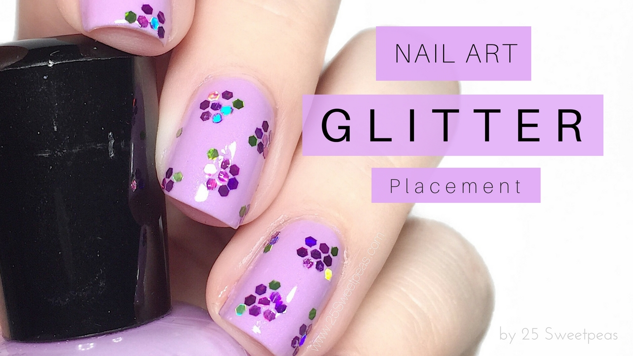 Glitter Placement Nail Art