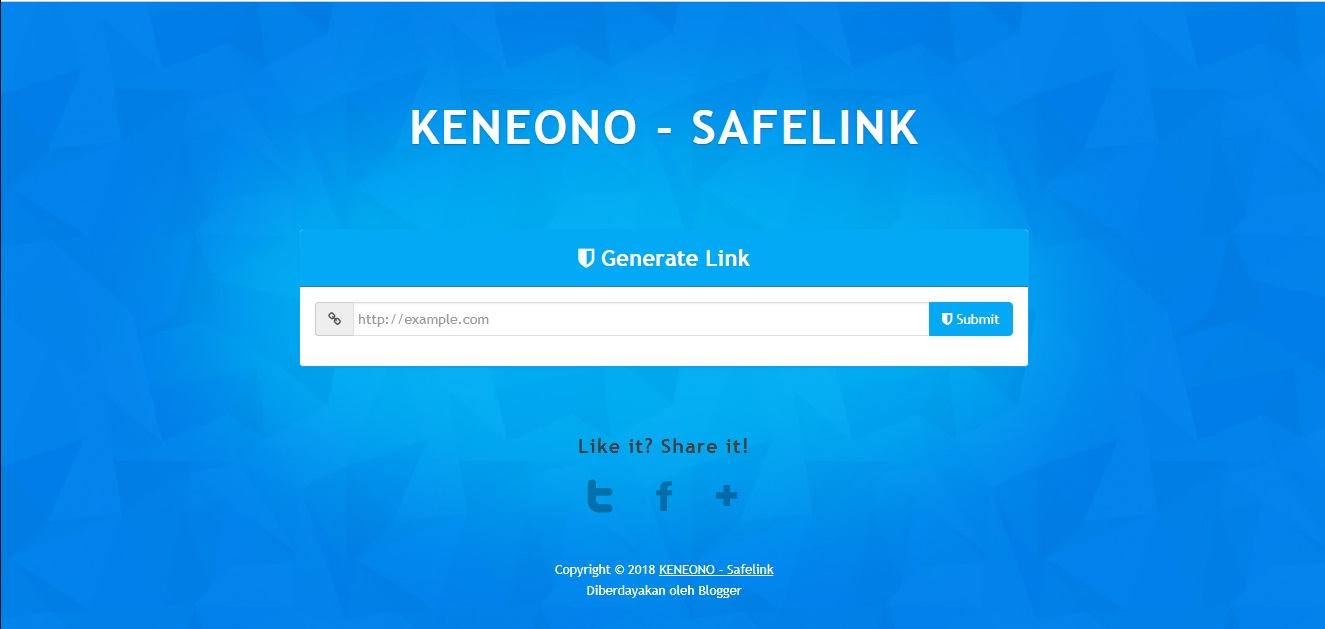 Tutorial blog safelink