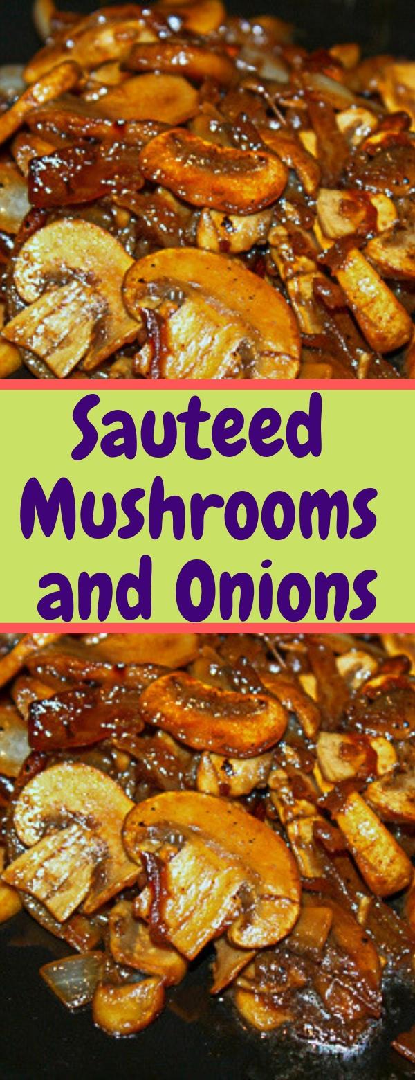 Sauteed Mushrooms and Onions #MUSHROOM #LOWCARB #LUNCH