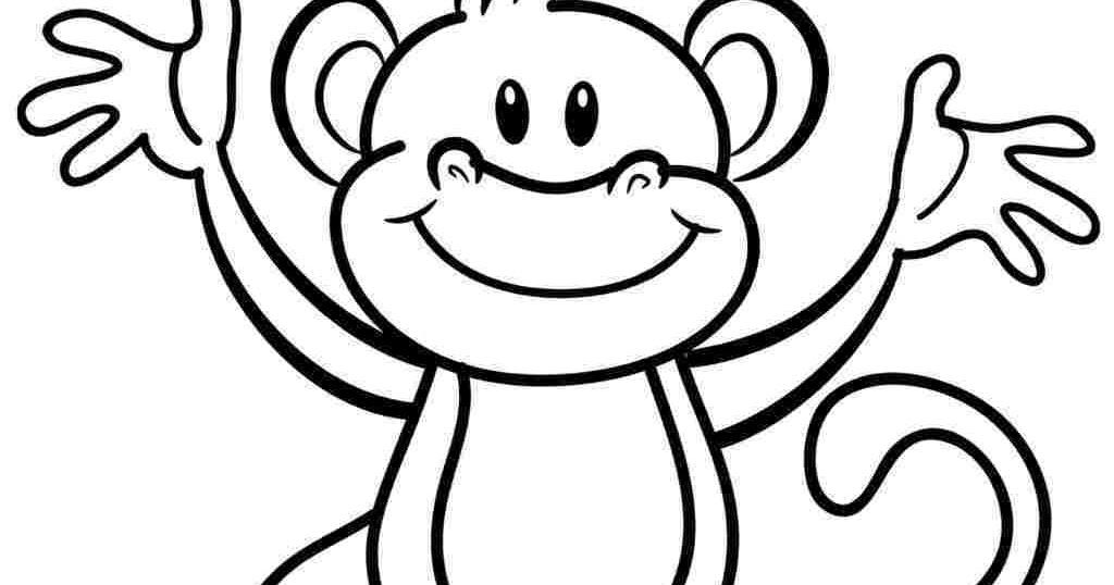 kleurplaten dieren aapje kleurplaat dieren apen kleur