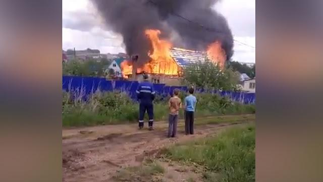 В Башкирии во время пожара погиб маленький мальчик Видео