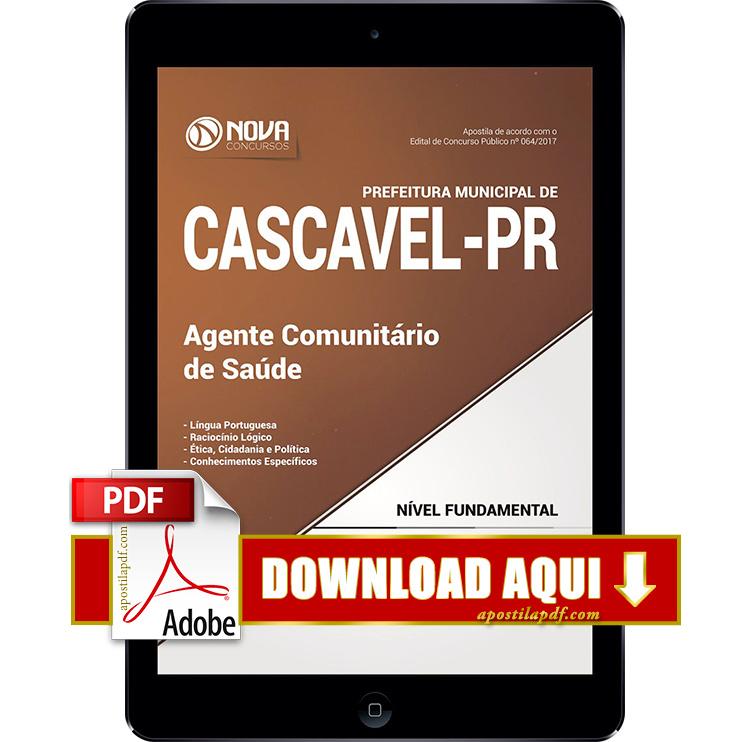 Apostila Prefeitura de Cascavel 2017 PDF Download Agente Comunitário de Saúde
