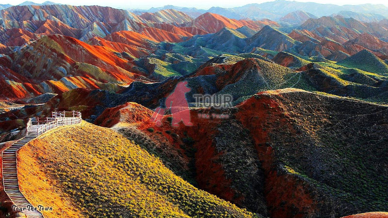 Rainbow Mountain en Zhangye Park Danxia National Geological Park