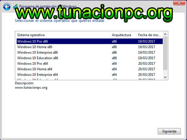 Windows 10 Todas las Versiones Anniversary