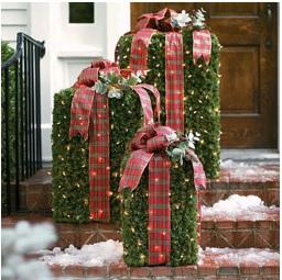 decorar la entrada de la casa en navidad