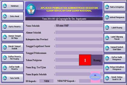 Aplikasi Administrasi Ujian Nasional SD dan SMP