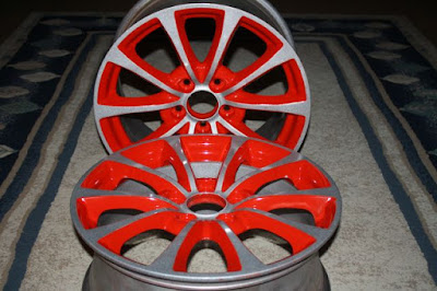 powder coating two toone rim wheel