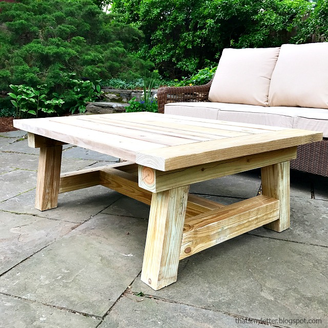 truss beam coffee table