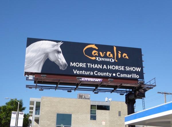 Cavalia Odesseo Horse show billboard