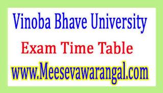 Vinoba Bhave University MBBS Ist Prof (II) 2016 Exam Time Table
