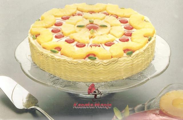 Pastel de piña confitada