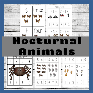 nocturnal animals worksheets for kids