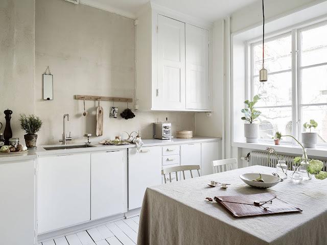 kuchnia  w stylu minimalistycznym, biała kuchnia