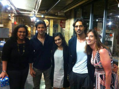 Hrithik Roshan & Arjun Rampal spotted in New York with fans