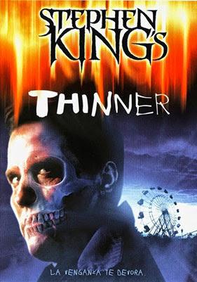Portada DVD de Thinner, película basada en un libro de Stephen King