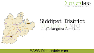 Siddipet  District New Revenue Divisions and Mandals