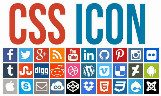CSS Icon Social Network Flat UI Dengan Font Awesome