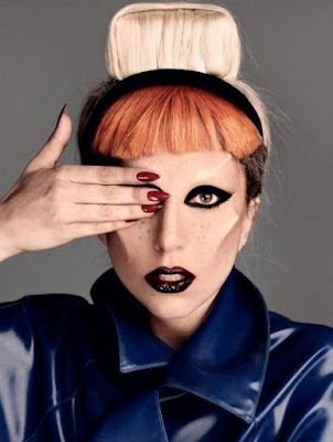 Foto de Lady Gaga con look extrovertido