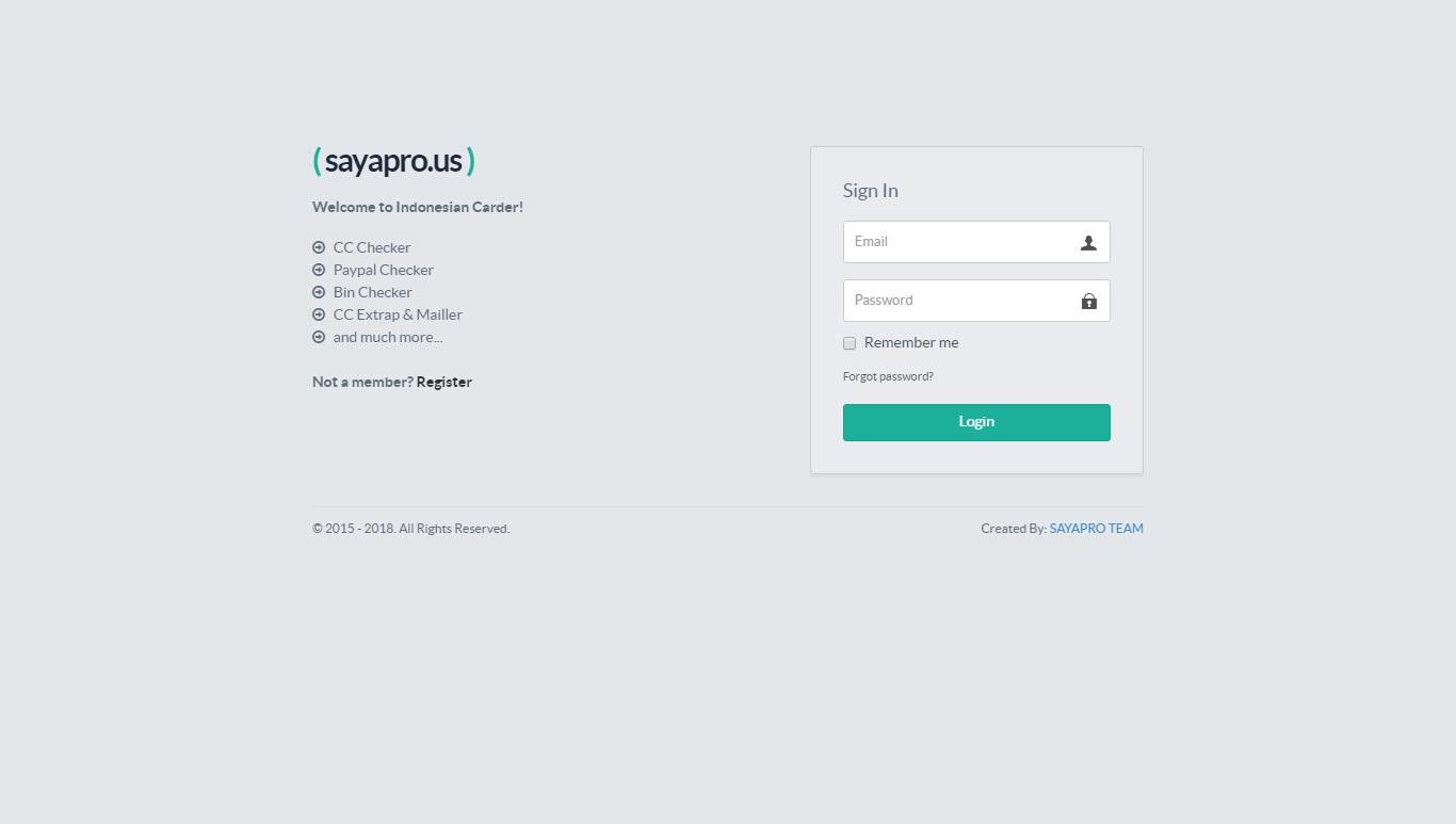 CARDING SAYAPRO SITE API ADDED NEW METHOD WORKS 100% - cordingku