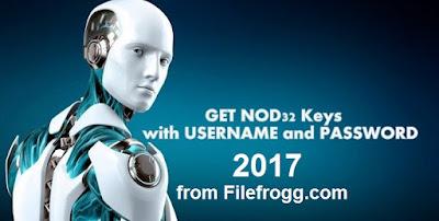Eset Nod32 Username and Password 2017