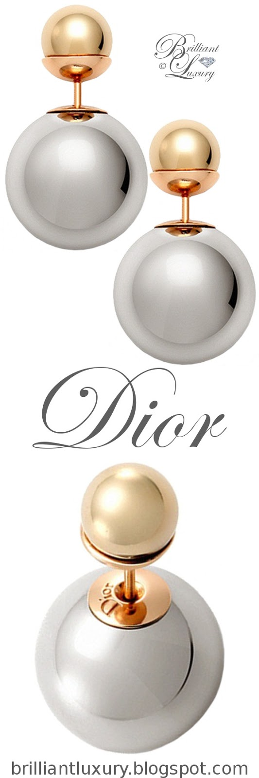 Brilliant Luxury ♦ Dior 'Mise en Dior' tribal-inspired rose-gold earrings