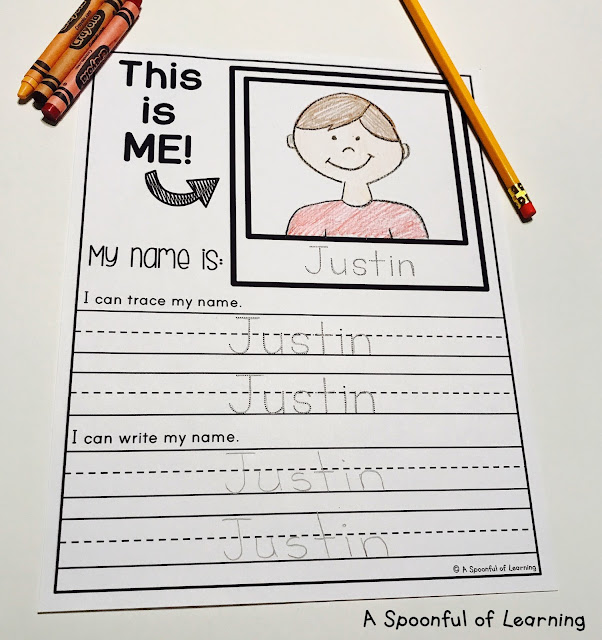 Name Activities - Option 2: Trace and Write Names 2