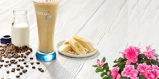 nescafe muzlu soğuk kahve yapımı, muzlu soğuk kahve, KahveKafe