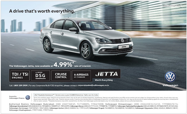 The Volkswagen Jetta, now  available at 4.99% interest rate | September 2016 discount offer | Festival offers